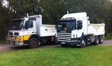 Coast Cat Excavations has at its disposal numerous trucks for deliveries, removal of spoil & site works.